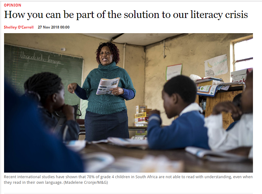 How you can be part of the solution to our literacy crisis – Mail&Guardian